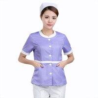 Verano uniformes medicos friega manga corta mujeres enfermera uniforme ropa de moda diseño slim fit transpirable toda la venta