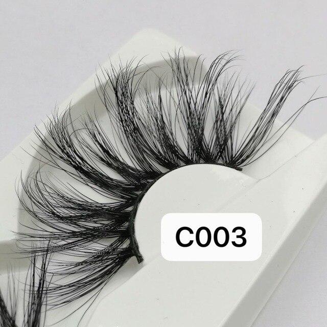 NEW Length 30mm Mink Eyelashes False Eyelashes Crisscross Natural Fake lashes Makeup 3D Mink Lashes Extension Eyelash Beauty 2
