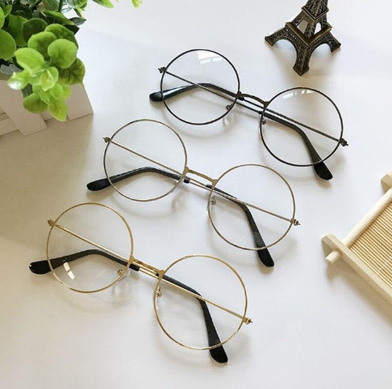 1 Pc Beliebte Vintage Runde Metall Klare Linse Gläser Rahmen Trendy Unisex Nerd Anti-strahlung Spektakel Stil Brillen Rahmen Eine GroßE Auswahl An Farben Und Designs