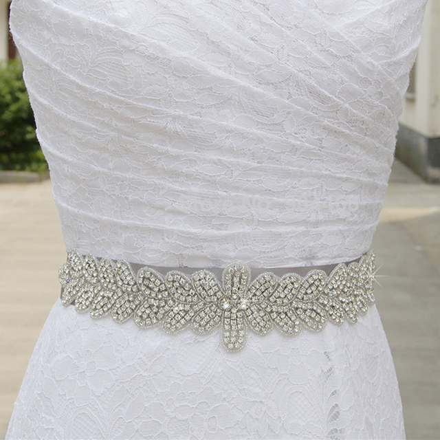 Glass Crystal Rhinestone Wedding Belt 2017 New Prom Party Bridal Accessory