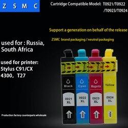 20PK kompatybilny epson 92 T0921 pojemnik z tuszem do c91 cx4300 drukarki