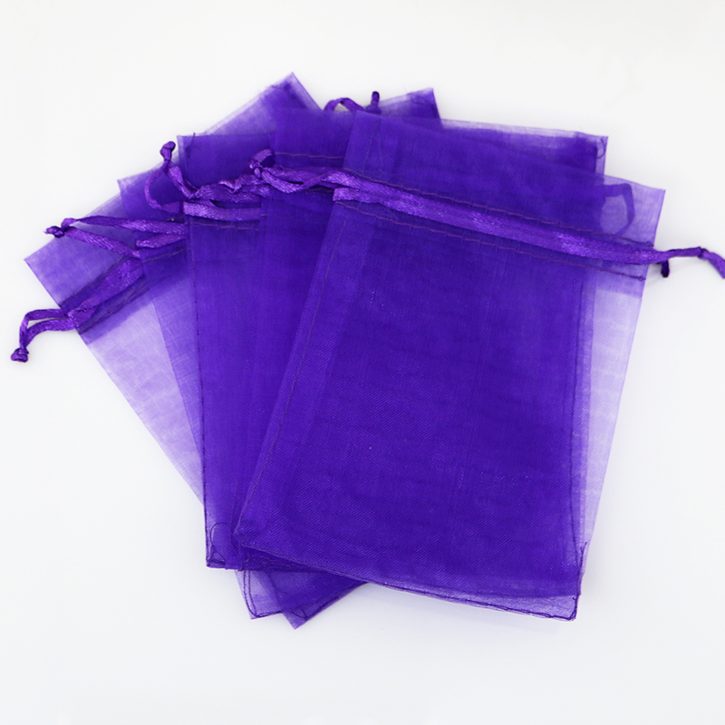 Aliexpress 100pcs Lot 20 30cm Deep Purple Organza Bags Wedding Christmas Gift Bag Cute Drawable Cosmetics Jewelry Packaging Pouches From