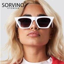 1fc577d638136 SORVINO Moldura Preta Retro Cat Eye Sunglasses 2018 Polígono Quadrado Óculos  de Sol Das Mulheres Designer De Marca Única Rosa Az..