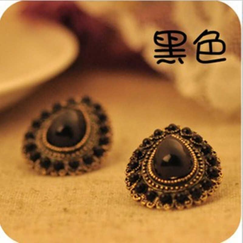 ES120 Mới Phong Cách Vintage Cổ Điển Cổ Các Phong Cách Cá Nhân Mùa Hè Giọt Nước Hoa Tai