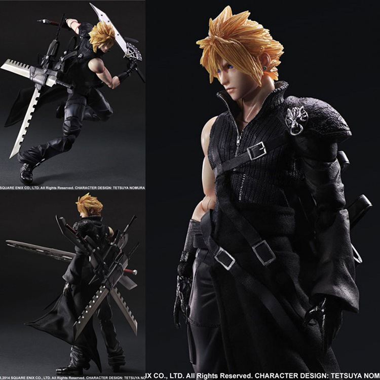 NEW hot 28cm Final Fantasy Cloud Strife collectors action figure toys Christmas gift doll  new hot 22cm final fantasy gabranth collectors action figure toys christmas gift doll