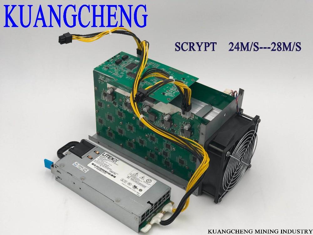 KUANGCHENG серебрянки 25 м/с Майнер Litecoin Scrypt Майнер источника питания 420 Вт лучше, чем ASIC шахтер Zeus 25 м Litecoin