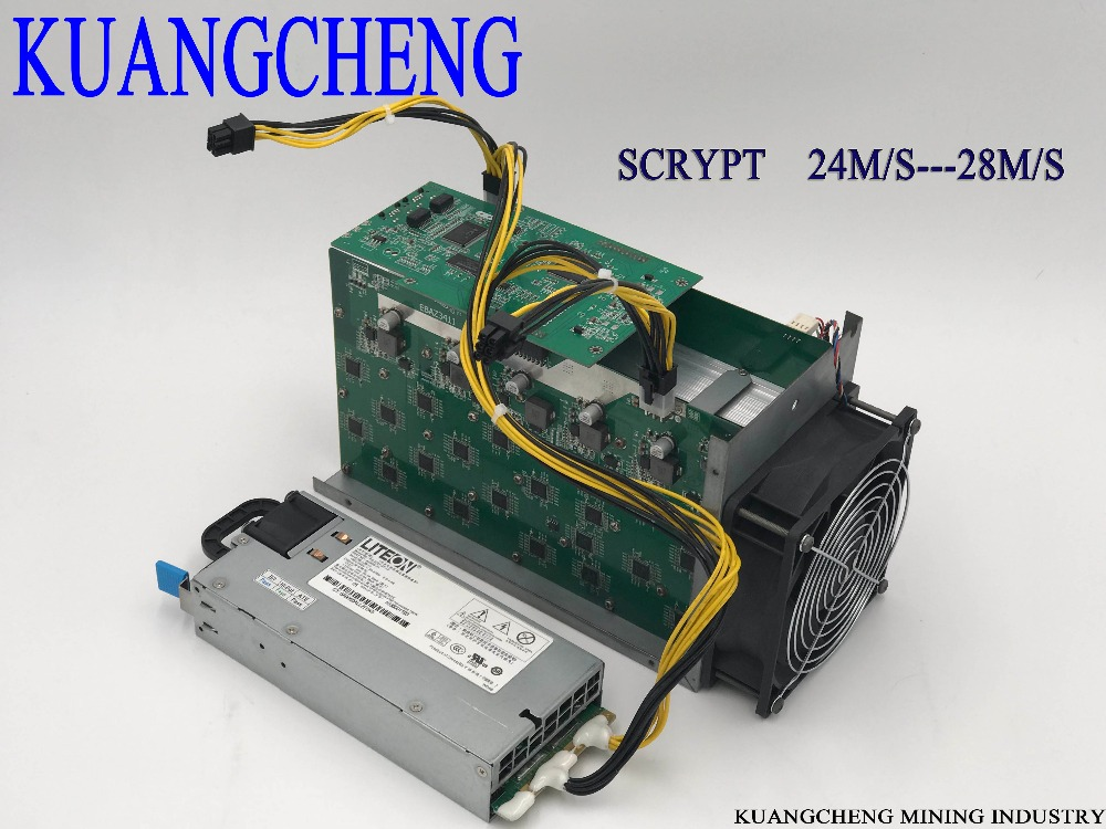KUANGCHENG Silverfish 25m/s Litecoin Miner Scrypt Miner power supply 420 watts better than ASIC miner Zeus 25 m Litecoin ltc miner used innosilicon a4 dominator 138m litecoin miner 14nm scrypt miner asicminer low power better than a2 110m