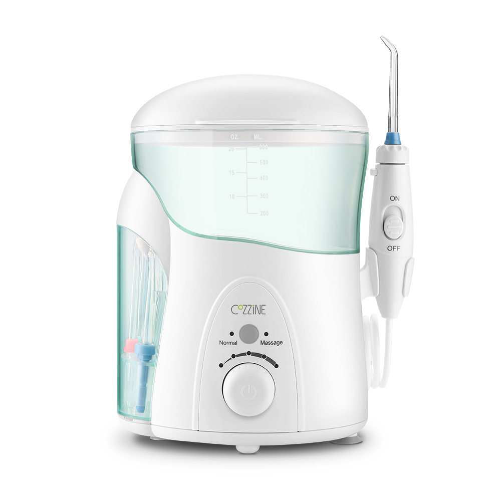 COZZINE FC288 600ML Portable Oral Irrigator Dental Floss Water Jet Water Flosser Dental Care Teeth Cleaning Irrigation 7 Tips nicefeel fc169 oral irrigator dental flosser water jet teeth care cleaner oral hygiene set 7 tips 600ml irrigation