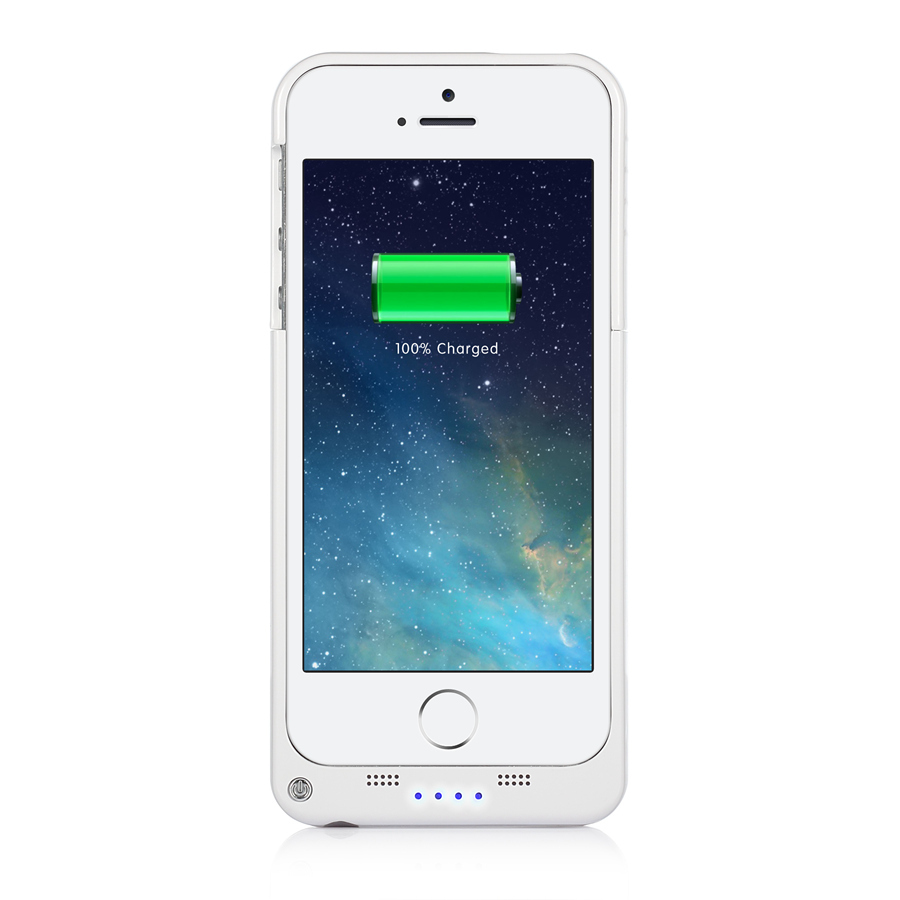 2200mAh Rechargeable Backup Battery Charger Power Charging Case Bank Cover for Apple iPhone 5 5S