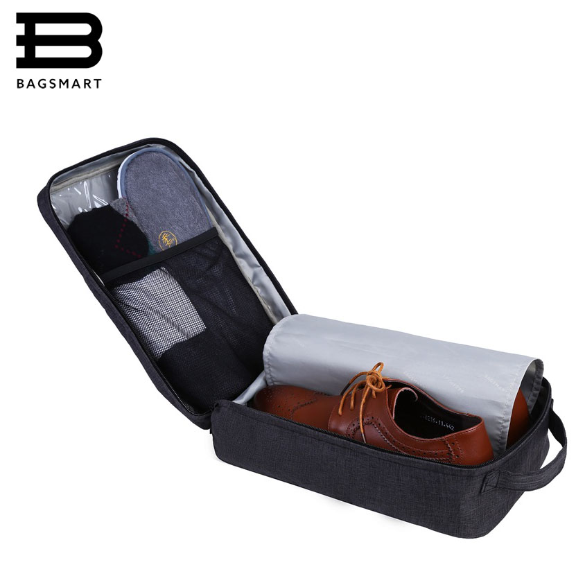 все цены на BAGSMART New Travel Accessories Bag Portable Waterproof Shoes Bag Pouch Pocket Packing Cubes Handle Nylon Zipper Bag for Travel онлайн