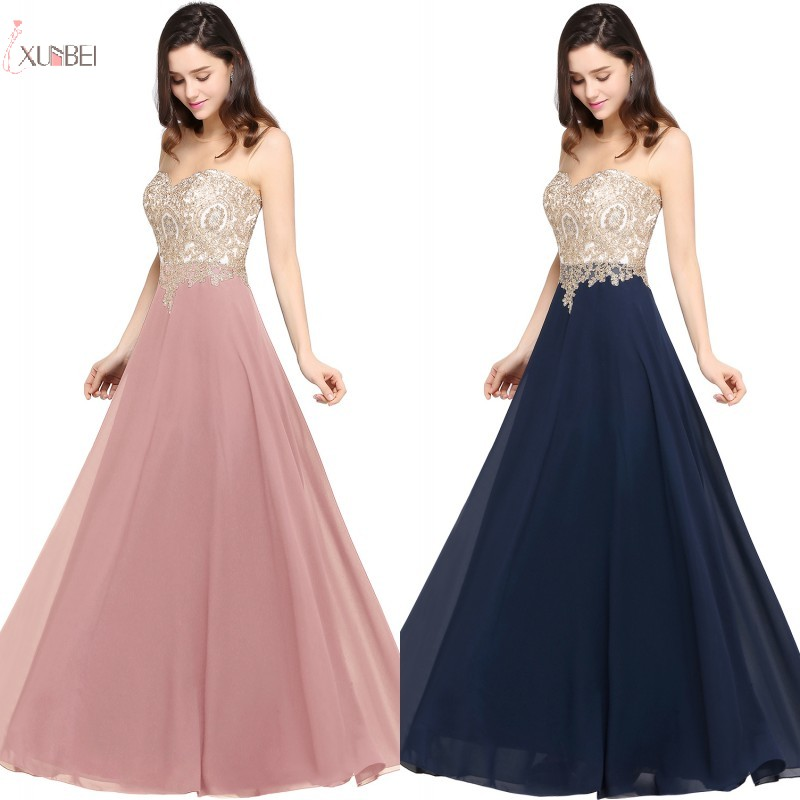 Pink Burgundy Navy Blue Chiffon Long   Bridesmaid     Dresses   A line Sleeveless Applique Wedding Party Guest   Dress   vestido madrinha
