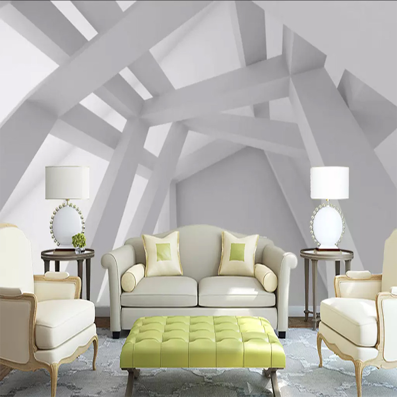 Custom Wall Cloth 3D Abstract Geometric Personality Building Photo Mural Wallpaper Living Room TV Background Wall Wall Painting
