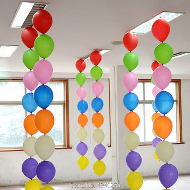 10inch Tail Balloons Wedding Party Marriage Room Decorations Link Latex Balloon Home Garden Event Supplies 100pc Lot In Ballons Accessories