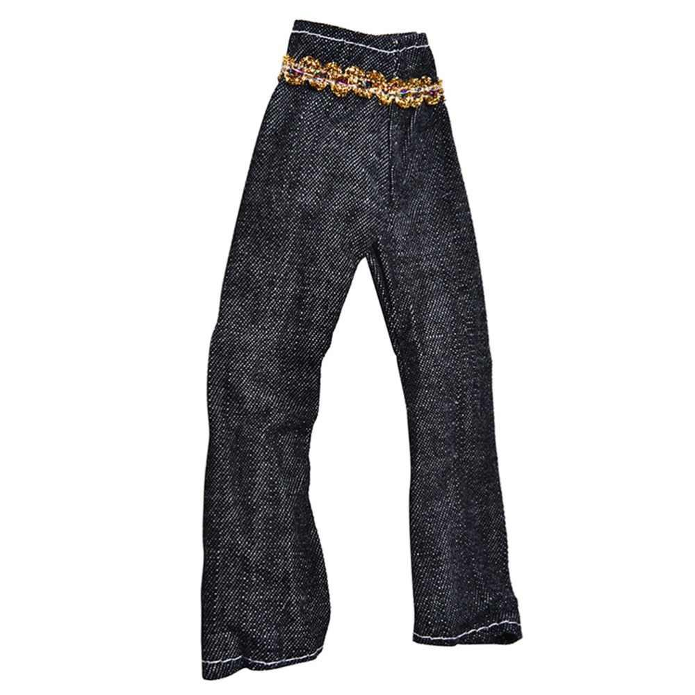 人形 3 ピース/セット卸売ファッション手作り服人形黄色コート黒パンツ虹ベスト s