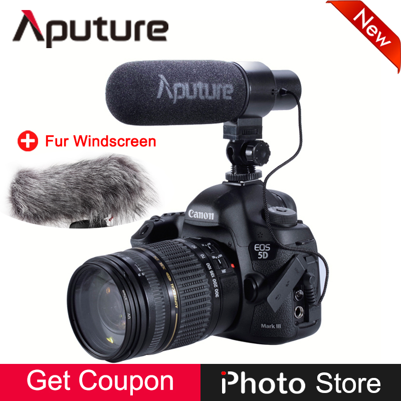 Aputure V-Mic D1 Super-Cardioid Directional Microphone for Canon Nikon Sony Panasonic Camera Camcorder Video Audio Record Mic