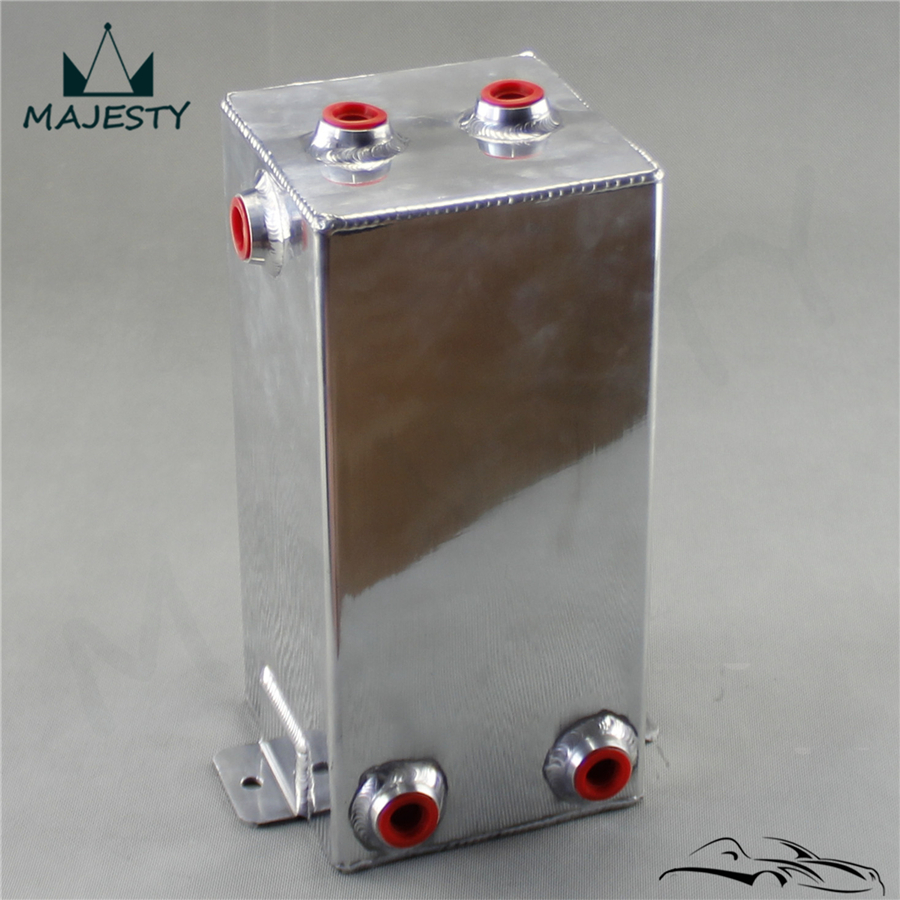 4L Universal Aluminium 4 Litre Swirl Pot 4L Fuel Polished Alloy Surge Tank silver
