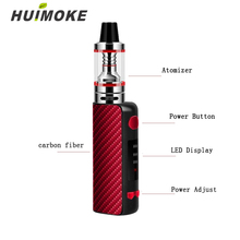 цена на 2019 Hot Selling Electronic Cigarette Vapor Vape Pen Hookah MINI 80W Starter Kit 510 Metal Body E cigarette Vape 1.8ml Atomizer