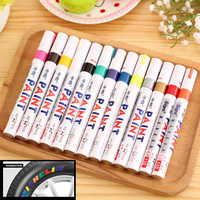 13Colors Metal Permanent Marker Pen Colorful Waterproof Oilly Marcador Caneta Paint Markers For DIY Tyre Tire Tread CD Metal Pen