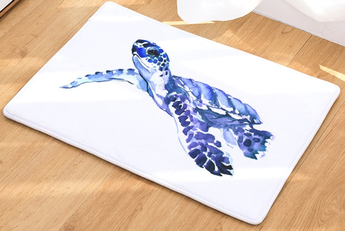 Image 2 - CAMMITEVER Sea Turtle Animal Carpet Hallway Welcome Floor Mats Tapete Rug Print Bathroom Kitchen Carpet House Home Doormats-in Rug from Home & Garden