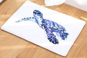 Image 2 - CAMMITEVER alfombra con estampado de tortuga marina, Tapete de bienvenida para el pasillo, alfombras Tapete de baño, cocina, felpudo para el hogar