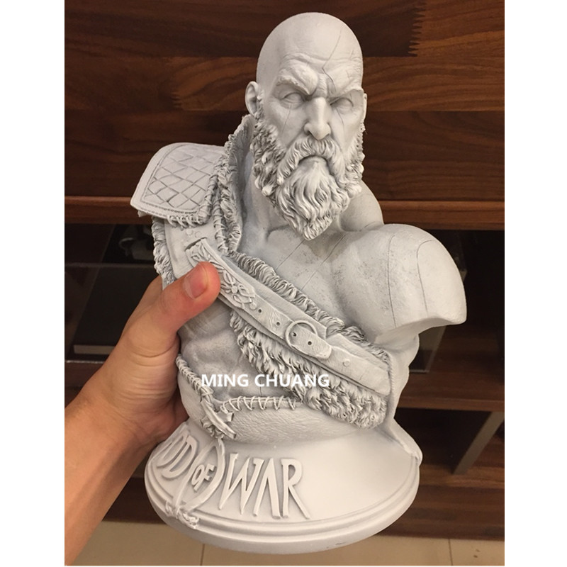 God Of War արձան Kratos 1: 3 Ghost Of Sparta Bust Son Zeus - Խաղային արձանիկներ - Լուսանկար 3