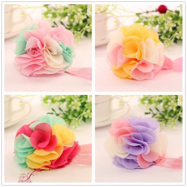 Moda floral adorno para el pelo arcos diademas para niñas niños niños  elástico del pelo bandas 1fd4b8df2a4d