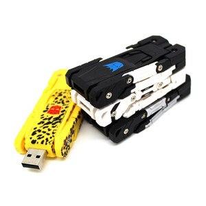 Image 4 - Heißer verkauf kunststoff spielzeug USB Stick pen drive 64GB 32GB 16GB U festplatte usb stick 4GB 8GB memory stick Transformatoren roboter Hund