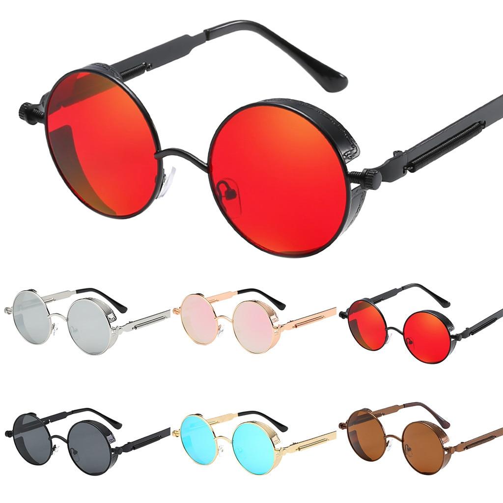 Round Sunglasses Eyewear Radiation-Protection Vintage Colorful Design Fashion Retro Popular
