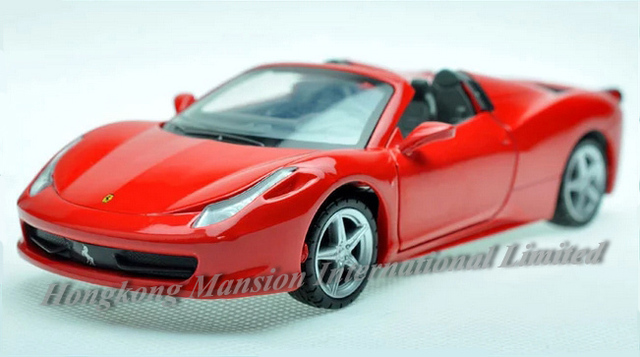 Us 17 82 6 Off 1 32 Scale Diecast Alloy Metal Sports Car Model For 458 Spider Cabriolet Collection Vehicle Model Pull Back Sound Light Toys Car In