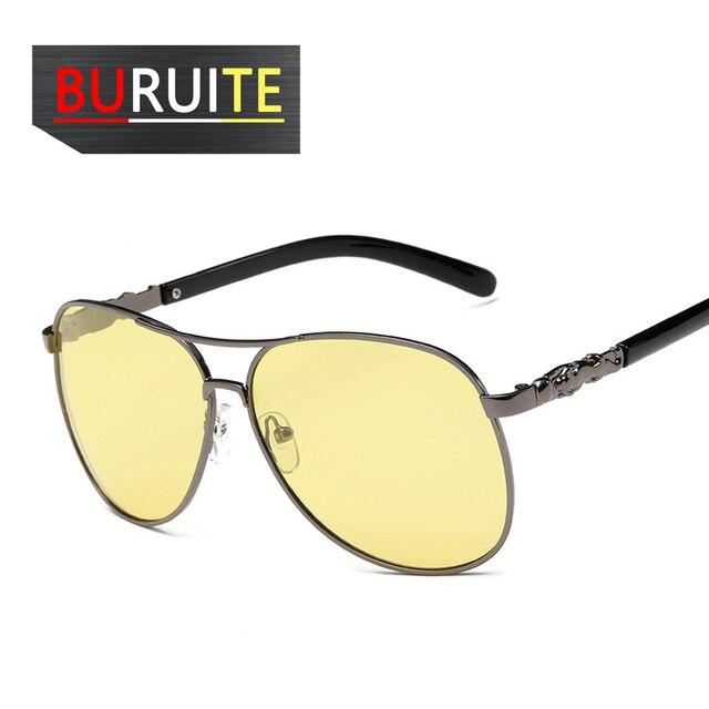 BURUITE-gafas de sol polarizadas clásicas para hombre y mujer, lentes de visión nocturna para Conductor, para conducir 2