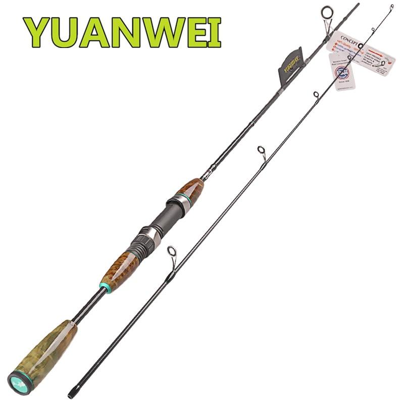 YUANWEI 2 Secs 1.8 m filature Canne à pêche UL 2-8g carbone leurre filature Canne à pêche bâton Varas De Pesca Canne à pêche Stand De Peche