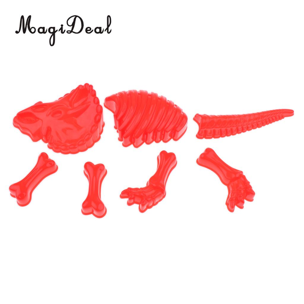 MagiDeal 1Set Plastic Building Sand Molds Beach Sandcastle Sand Box Dinosaur Skeleton Mold for Kids Baby Play Game Toy
