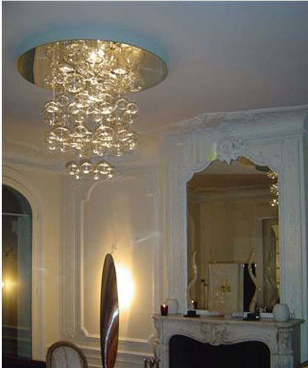height 40cm murano due bubble glass chandelier suspension light lighting fixtures pendant lamp modern hanging living room lamps bubble lighting fixtures