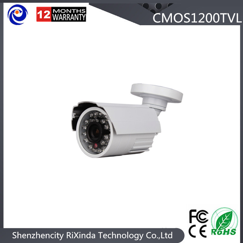 Free Shipping Small Anolog Metal Bullet Security Camera HD 1200TVL 24LEDs IR CUT Switch Cctv Camera