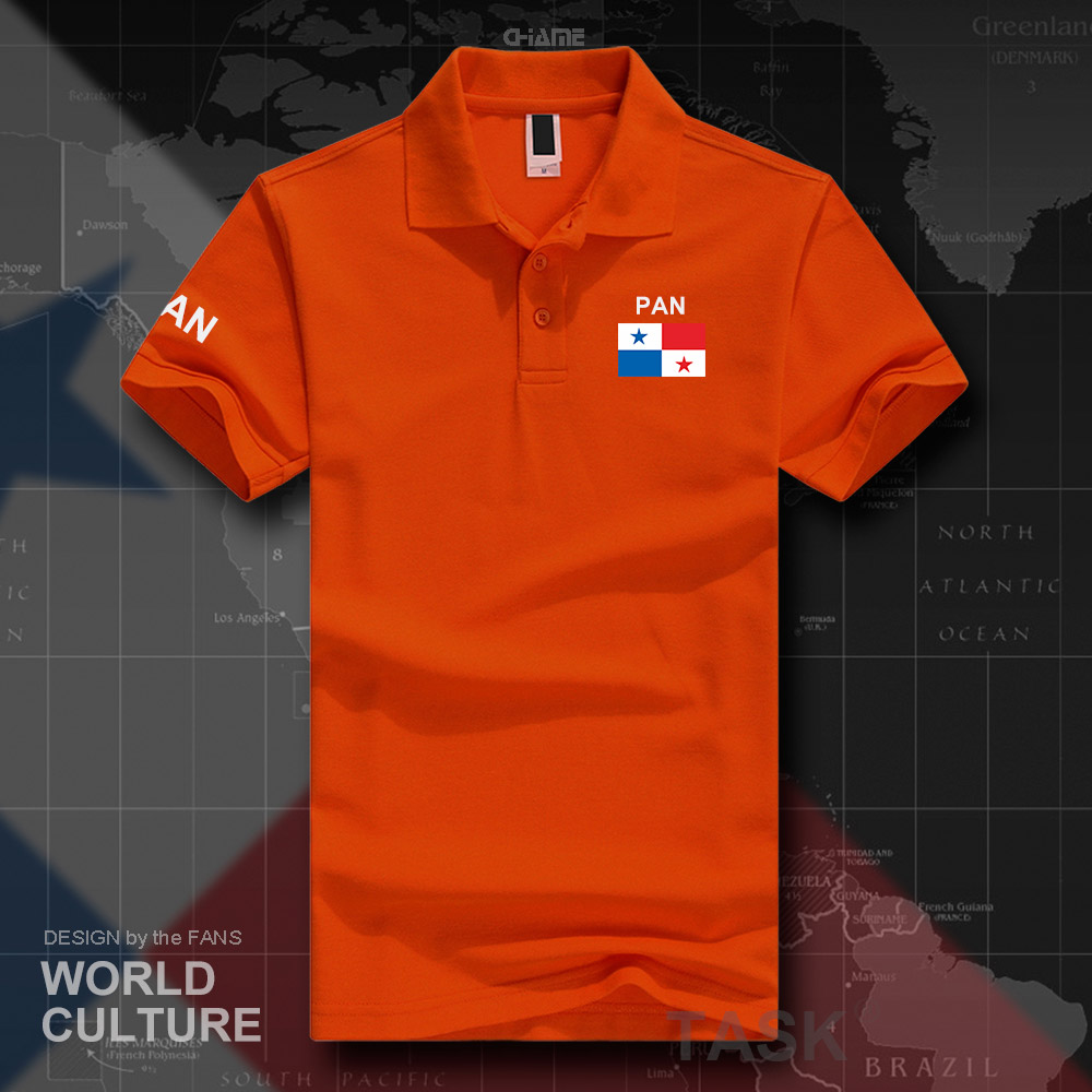 Panama Panamanian   polo   shirts men short sleeve white brands printed for country 2017 cotton nation team flag new PAN Mestizo