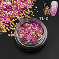 SWEET TREND 1 Bottle Chameleon Nail Art Glitter Tips 3D Sparkly Mermaid Nail Decoration Sequins Slice Nail Manicure Tools #TL-D