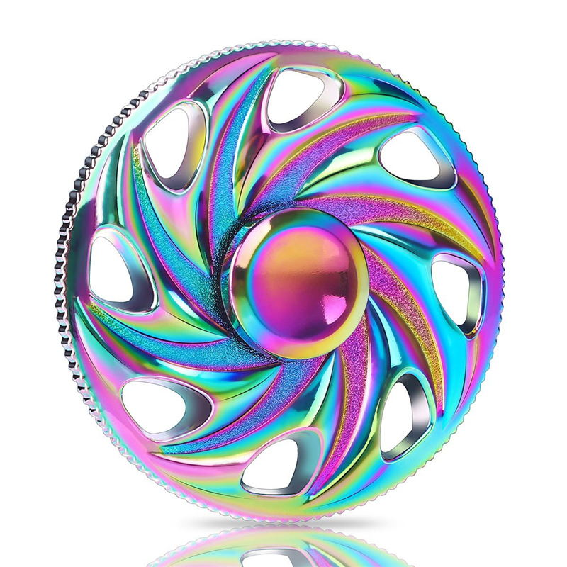 Rotation Time Long Rainbow Tri-Spinner Fidget Funny Toys Metal EDC Fidget Spinner Hand Spinner For Kids Adults Anti Stress Toys pudcoco metal boys girls rainbow fidget hand finger spinner focus edc bearing stress toys kids adults