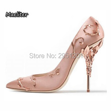 Choudory High Quality Pumps Fashion Metallic Stiletto Designer Pointed Toe Luxury Party Wedding Shoes Woman Heels