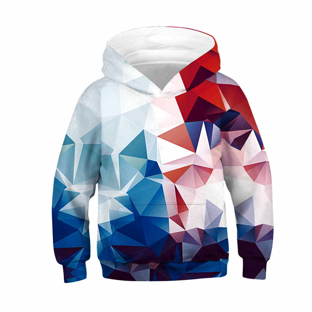 Teen Kids Girl Boy Galaxy Fleece Print Cartoon Sweatshirt Pocket Pullover Hoodie fortnited enfant sweat toddler boy sweatshirt