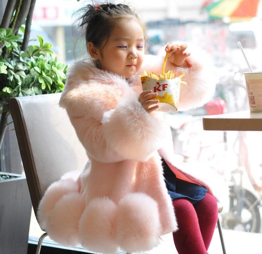Hot sales NEW FASHION CHILDREN GIRL WINTER SHELTER FAUX Baby Long Sleeve Winter Wedding Coat HW2023