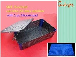 Image 5 - Medical orthopedic dentel Surgical instrument aluminium alloy Storage Sterilizing box HTHP materials case with HTHP silicone pad