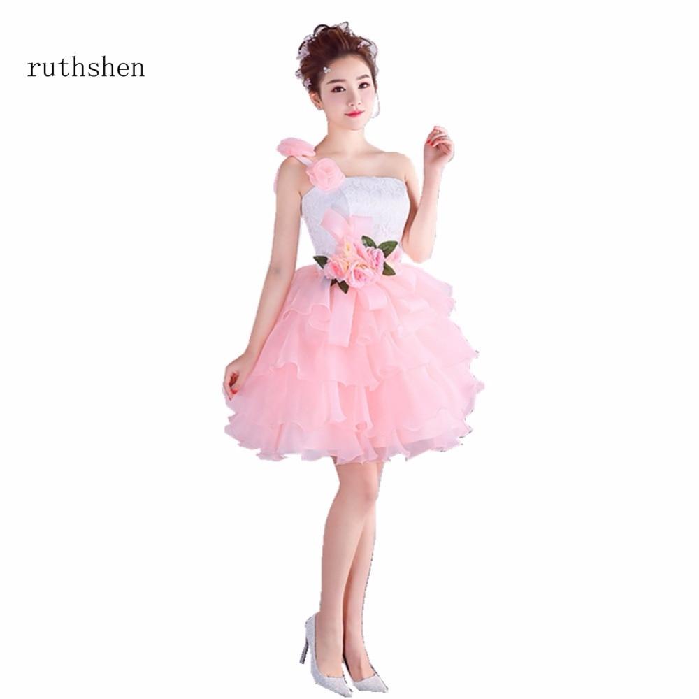 Tienda Online Ruthshen Rosa Vestidos de cóctel 2018 un hombro ...