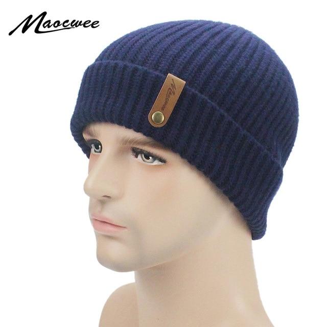 d4c8c4c39eb 2018 Mens Women Designer Hats Bonnet Winter Ski Thick Beanie Knitted Hat  Skullies Thicker Mask Fringe Beanies For Men Women