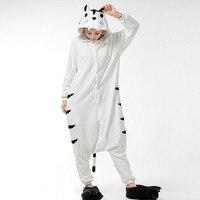Adult Unisex Animal White Tiger Onesie Halloween Christmas Costume Pajamas Sleepwear For Men Women
