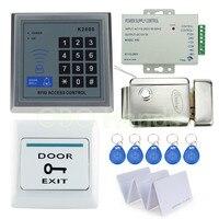 RFID Door Access Control System Kit Set With Electric Control Lock Digital Keypad Power Supply Door