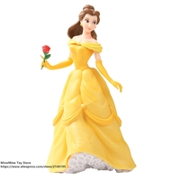 DISNEY Beauty and the Beast Princess Belle 21cm Action Figure Model Anime Mini Decoration PVC Collection Figurine Toy model gift