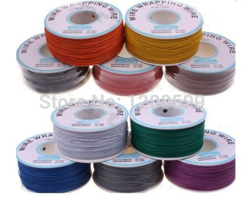 Freeshipping, 305 meters long electrical wire, wrapping wire high quality 30awg ok line q9 electric cable panda electrical wire cable bvr flexiblecords 0 75 100 meters