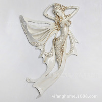 European and American style home decor resin pendant European decorative arts and crafts Wall Flower Fairy Queen Mural