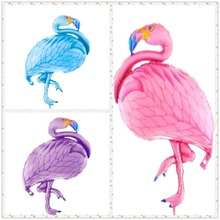 1pc Kawaii Inflatable Flamingo Baby Birthday Party Supplies Foil Giant Balloons Kids Happy Decoration