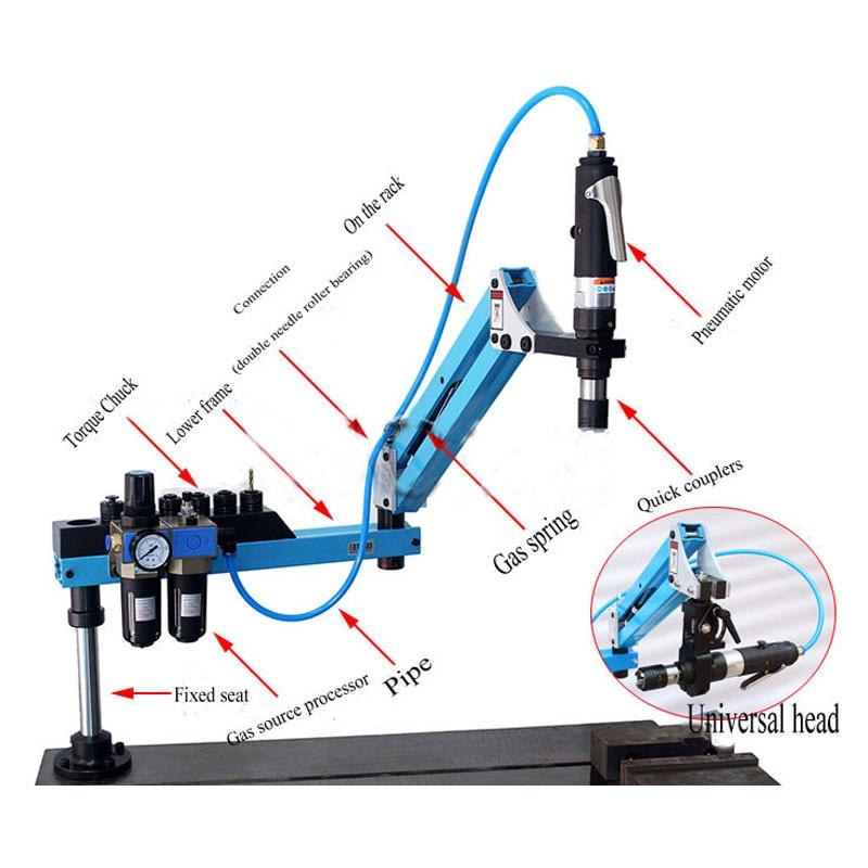 CE Pneumatic M3-M12 Universal Type 360 Degrees  Angle Pneumatic Air Tapping Machine  Drilling Machine Pneumatic Tapping Machine
